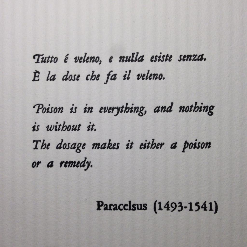 """Pagina di """"Pharmakon"""", libro d'artista di Marianna Marchioro"""