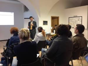 Luca Melchionna a Weigh Station For Culture, Bolzano. Gioco di ruolo sulla comunicazione web per musei